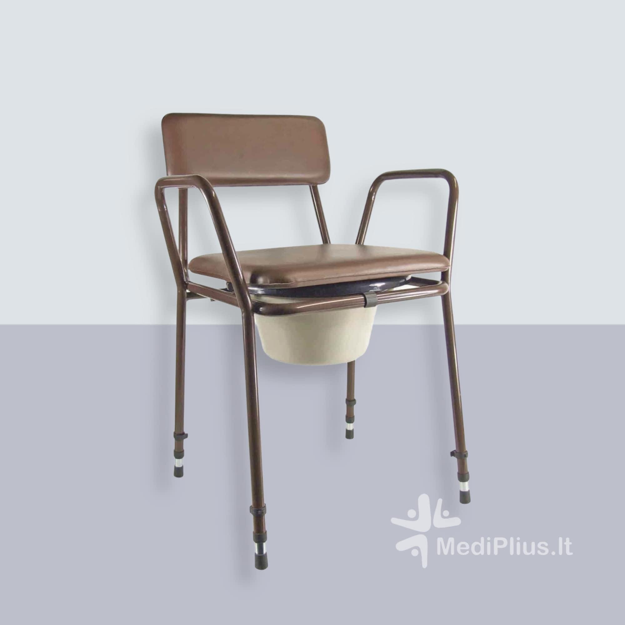 Tualeto kėdė su reguliuojamu aukščiu