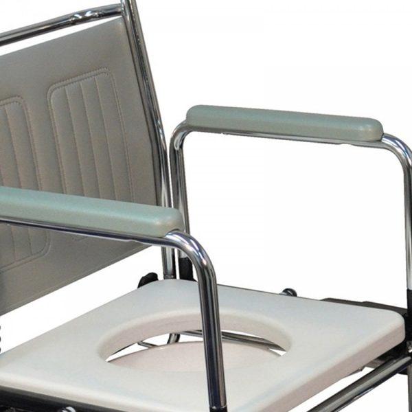 tualeto kėdė-vežimėlis su ratukais