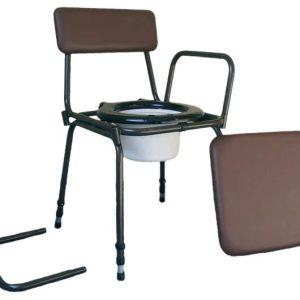Tualeto kėdutė su reguoliuojamu aukščiu ir nuimamais šonais