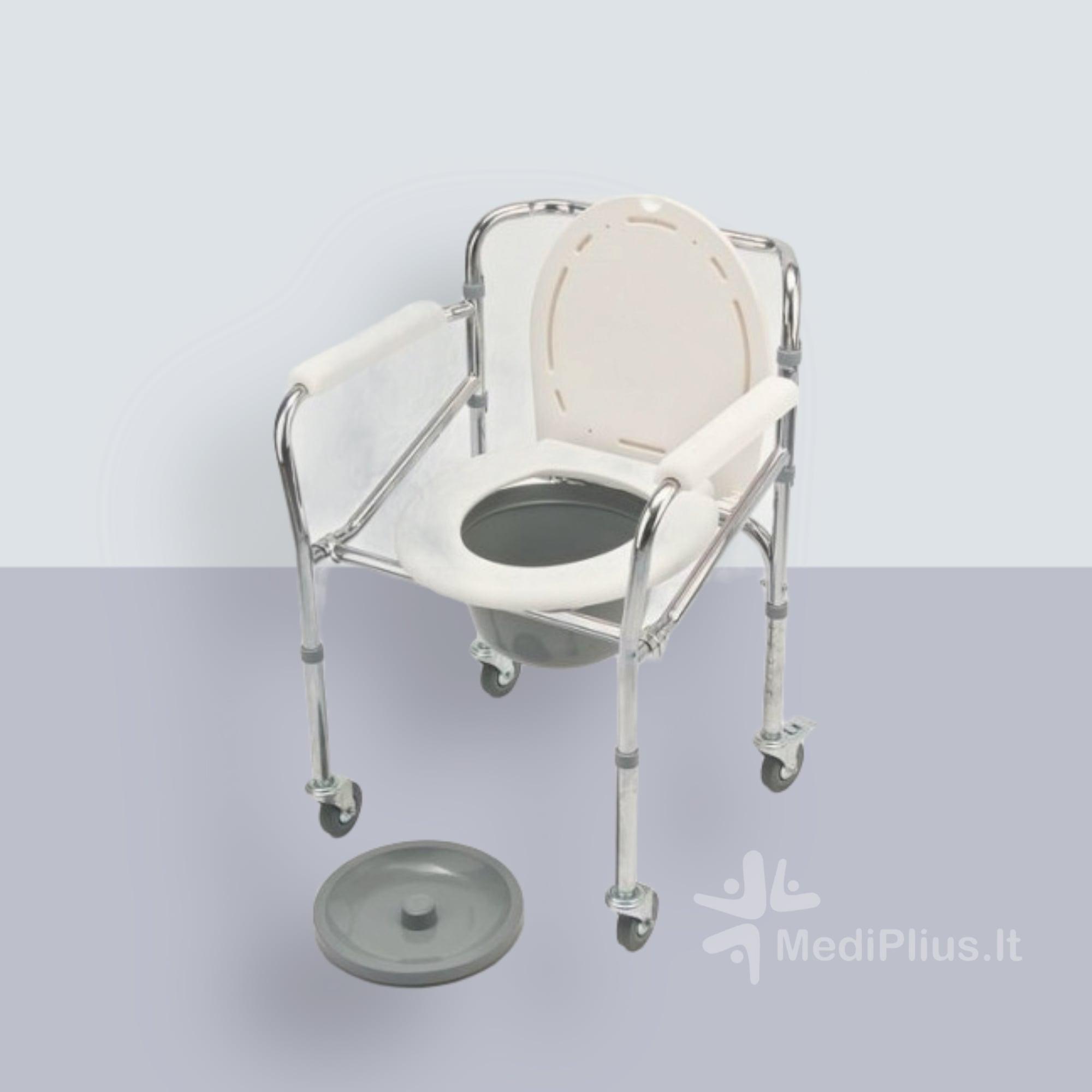 sulankstoma tualeto kėdė su ratukais