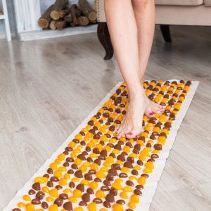 Masažo ir akupunktūros kilimėlis su akmenukais Lamor 140×40