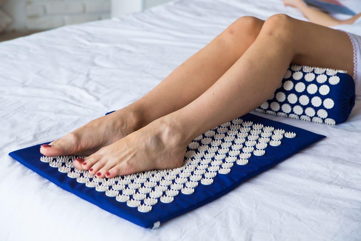 Masažo - akupunktūros volelis ir kilimėlis 55×40 3