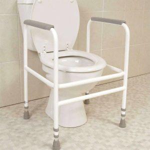 tualeto rėmas turėklas su reguliuojamu aukščiu